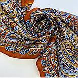 Четыре ветра 1881-66, павлопосадский шарф-палантин шерстяной с шелковой бахромой, фото 4