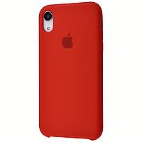 Чехол на айфон Xr Silicon case for iPhone Xr red силиконовый чехол на айфон