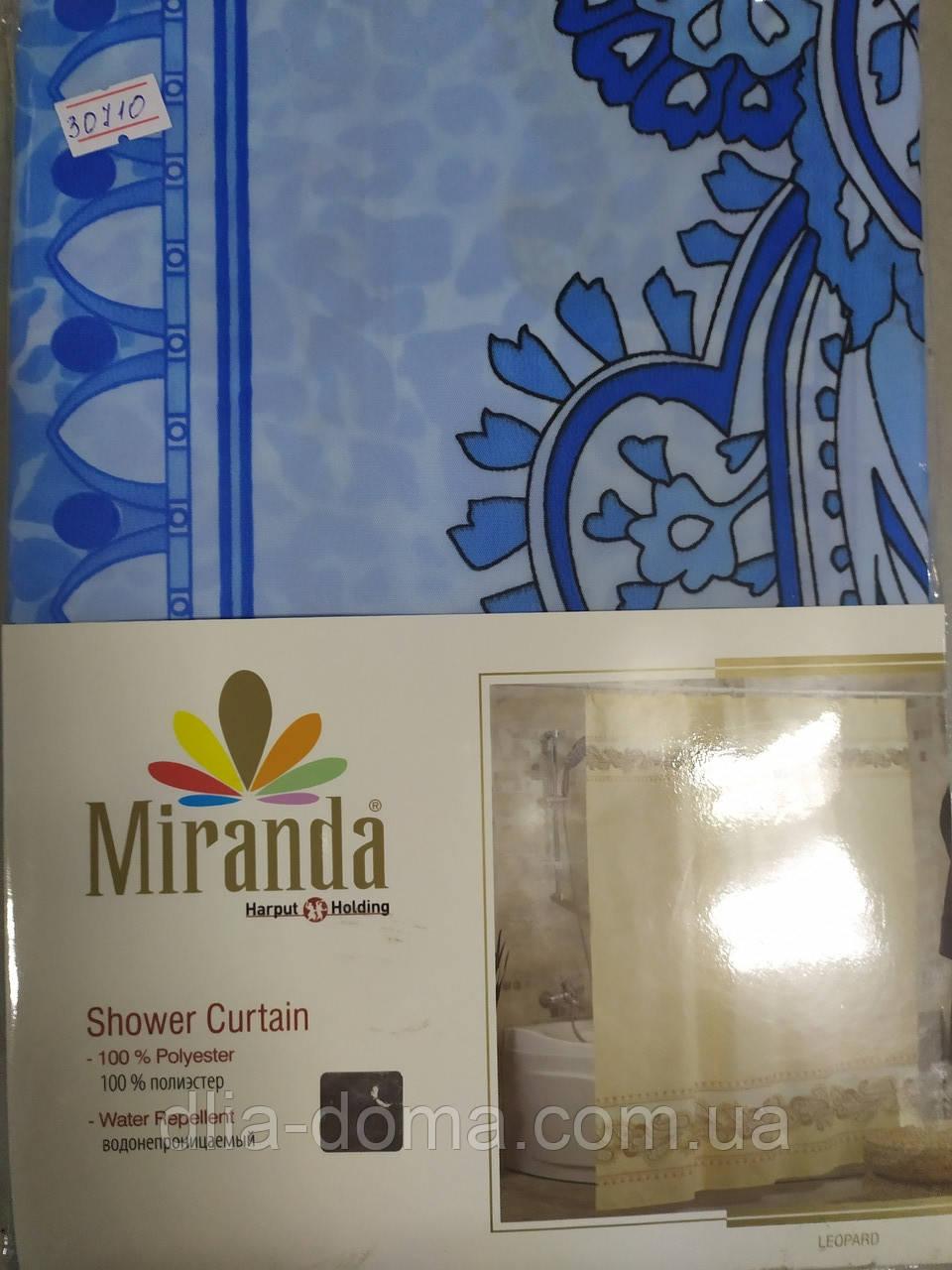 Штора в ванную ткань Миранда 180х200 шелк