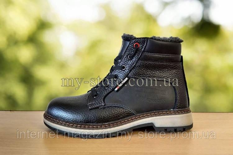 Подростковые ,детские зимние кожаные ботинки