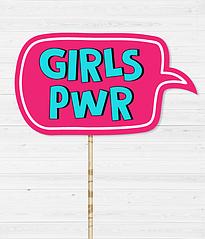 "Табличка для фотосессии ""GIRLS PWR"""