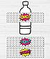 """Наклейки для бутылочек """"Комиксы"""" (10 шт.), фото 2"""