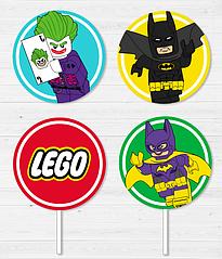 """Топперы для капкейков """"Лего Бэтмен"""" (10 шт.)"""