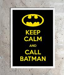 "Постер для свята ""KEEP CALM AND CALL BATMAN"" (2 розміру)"