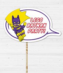 "Табличка для фотосесії ""Lego Batman Party!"""