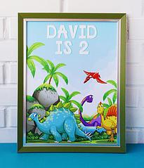 Постер для праздника с динозаврами