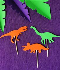 """Топперы для капкейков """"Силуэты динозавров"""""""