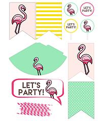 """Набор декора для дня рождения ребенка """"Фламинго"""""""