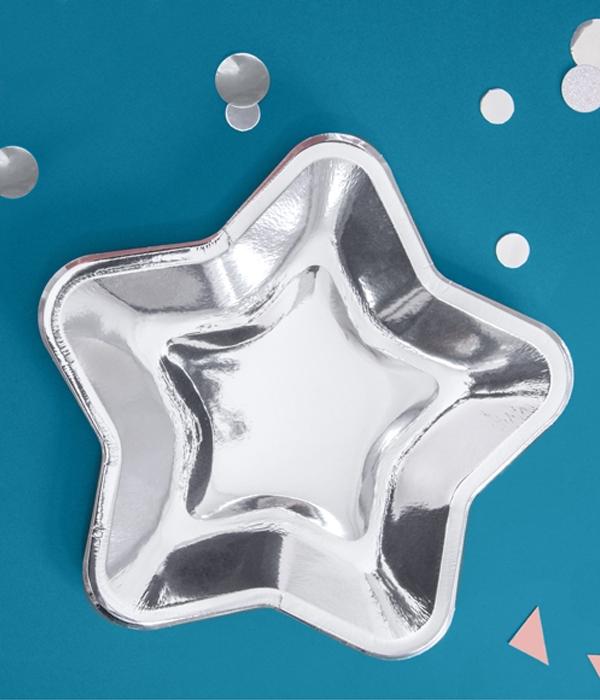 "Бумажные тарелки ""Silver stars"" (6 шт.)"
