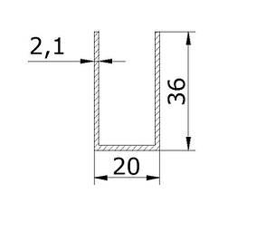 Швеллер 36х20х36, фото 2