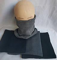 Хомут мужская вязаная на флисе шерсть+ акрил оптом со склада в Одессе.