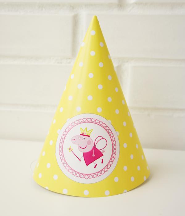 """Колпачки для праздника """"Свинка Пеппа"""" (Yellow) 2 шт"""