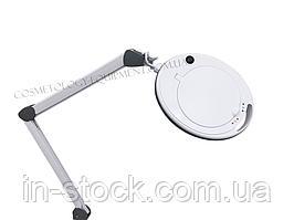 Увеличительная лампа-лупа CQ-6014 LED-5 диоптрий С РЕГУЛИРОВКОЙ ЯРКОСТИ, БЕЛЫЙ ХОЛОДНЫЙ И ТЕПЛЫЙ СВЕТ