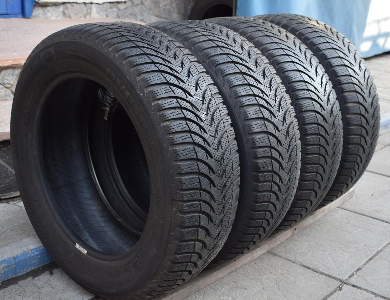 Шины б/у 205/55 R16 Michelin Alpin A4, ЗИМА, 6 мм, комплект