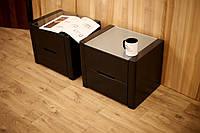 """Дизайнерские прикроватные тумбы """"Орео"""" черные, фото 1"""