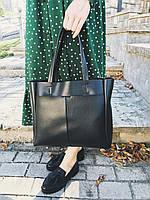 Классическая черная сумка из кожзама Камелия М223-34, фото 1