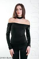 Женская модная кофта с чокером SonnaИнтересная приталенная молодежная кофта с чокером Sonna
