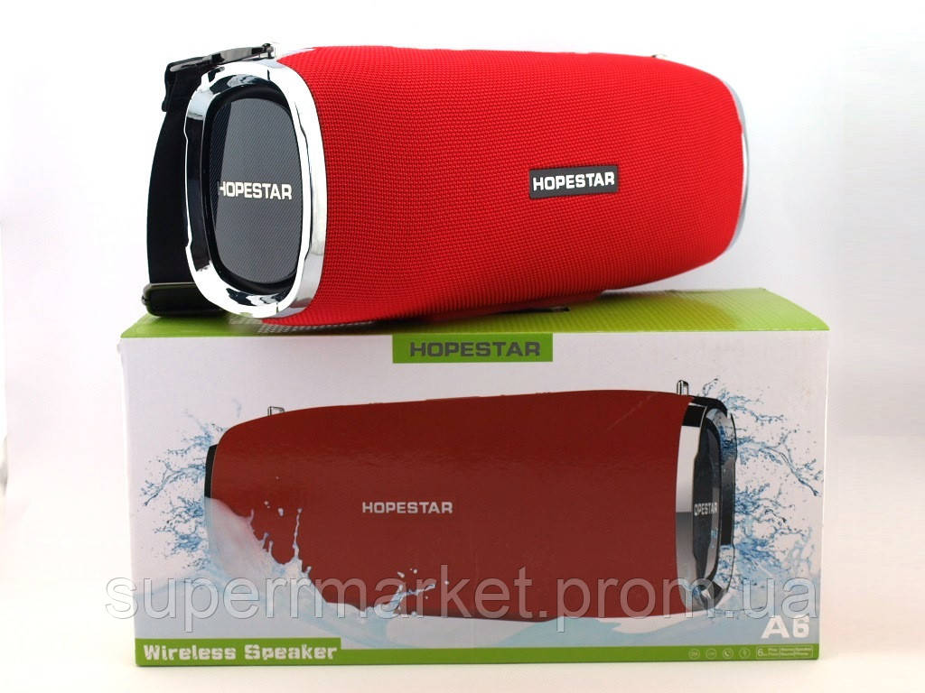 Hopestar A6 34W Boombox SuperBass, портативная колонка с Bluetooth MP3, красная