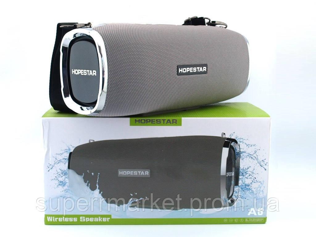 Hopestar A6 34W (2*8W + 18W)  Boombox в стиле xtreme SuperBass, Bluetooth колонка с MP3,серая