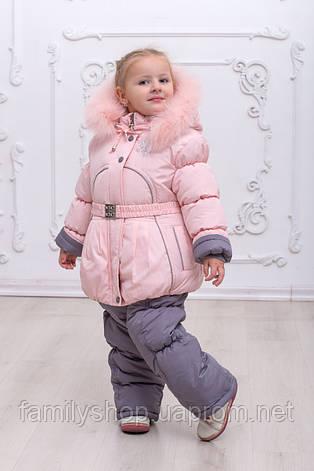 Зимняя куртка и полукомбинезон  на девочку, фото 2