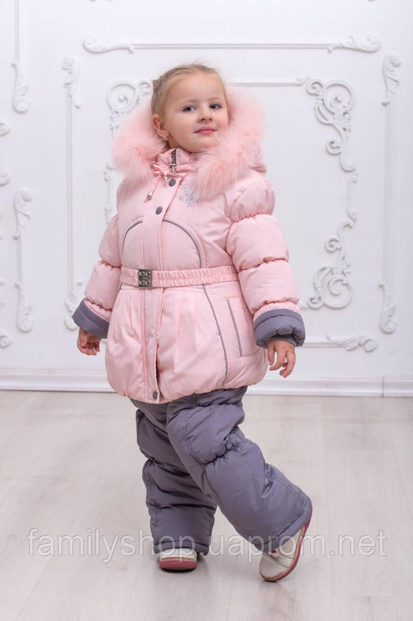 Зимняя куртка и полукомбинезон  на девочку