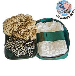 Органайзер для рубашек на 3 шт / для путешествий ORGANIZE (зеленый)