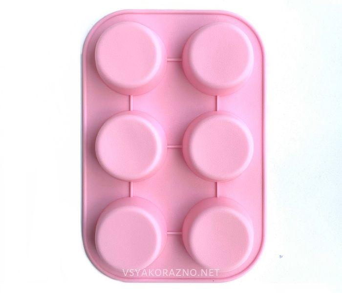 Силиконовая форма для выпечки в духовке (Маффин) розовый