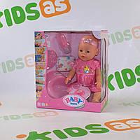 Функциональный пупс с кнопкой на животе Беби Борн аналог Baby Born BL023C Функциональный набор