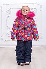 Зимний детский комбинезон с натуральным мехом, фото 2