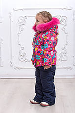 Зимний детский комбинезон с натуральным мехом, фото 3