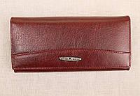 Женский кожаный кошелек застежка магнит Kochi бордовый 806DR, фото 1