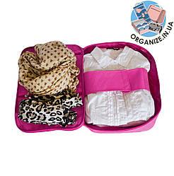 Органайзер для рубашек и блузок на 3 шт ORGANIZE (розовый)
