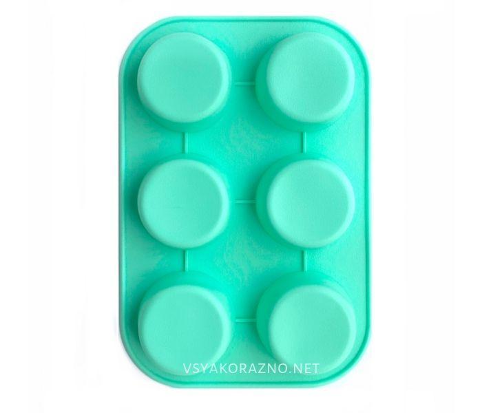 Силиконовая форма для выпечки в духовке (Маффин) зеленый