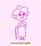 Трафарет + формочка-вырубка для пряника Бабушка №2, фото 2