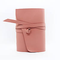 Кожаный блокнот COMFY STRAP А5 женский розовый ручная работа, фото 2