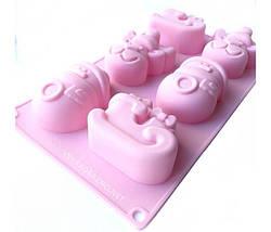 Силиконовая форма для выпечки в духовке (НОВОГОДНЯЯ) розовый