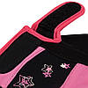 Рукавички для фітнесу PowerPlay 3492 Чорно-Розові M, фото 4