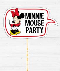 "Табличка для фотосессии ""MINNIE MOUSE PARTY"""