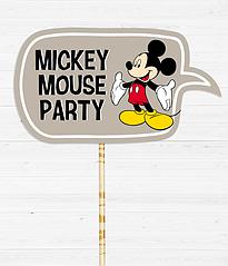 """Табличка для фотосессии """"MICKEY MOUSE PARTY"""""""