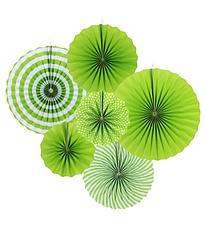 """Набор бумажных вееров """"Green mix"""" (6 шт.)"""