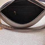 Женская большая классическая бананка с цепочкой сумка через плечо черная, фото 6