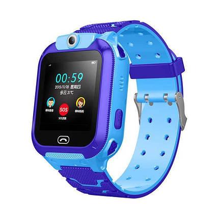 Детские смарт-часы S16/Z5 с камерой и GPS трекером, сенсорный экран. Smart Watch сине-голубые, фото 2