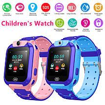 Детские смарт-часы S16/Z5 с камерой и GPS трекером, сенсорный экран. Smart Watch сине-голубые, фото 3