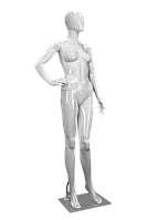 Манекен жіночий глянцевий білий