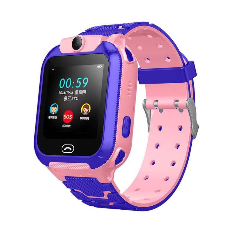 Детские смарт-часы S16/Z5 с камерой и GPS трекером, сенсорный экран. Smart Watch розово-фиолетовые