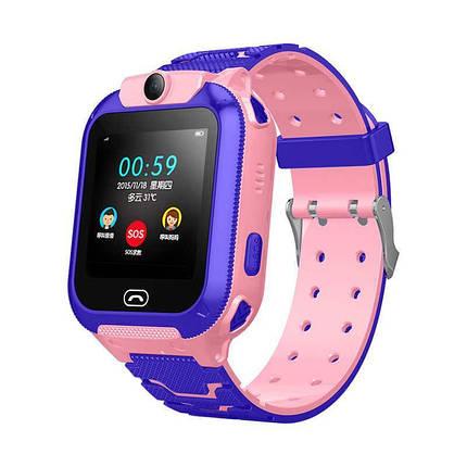 Детские смарт-часы S16/Z5 с камерой и GPS трекером, сенсорный экран. Smart Watch розово-фиолетовые, фото 2