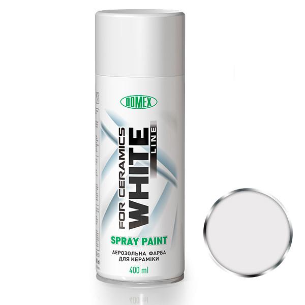 Аэрозольная краска для керамики Domex White Line. 400 мл. Белая RAL9010
