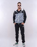 Теплый мужской спортивный костюм Трехнитка на флисе Размер 46 48 50 52
