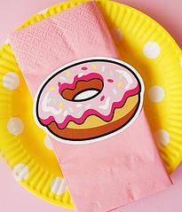 Серветка і ярличок-пончик (10 шт.)