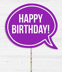 "Табличка для фотосессии ""Happy birthday!"""